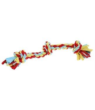 Happy pet Twist-tee 3 knoop tugger | Flosspeelgoed stof | 33 CM