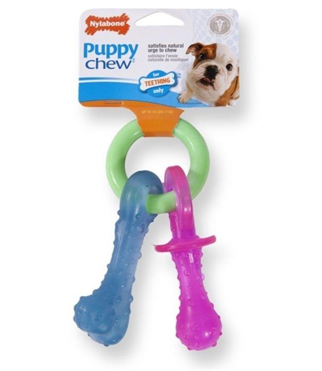 Nylabone puppy chew bijtring speen / bot puppyspeelgoed