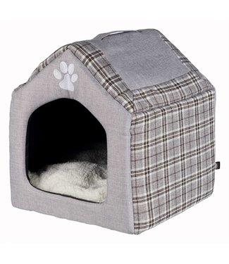 Trixie Trixie relax iglo hondenhuis silas grijs/creme
