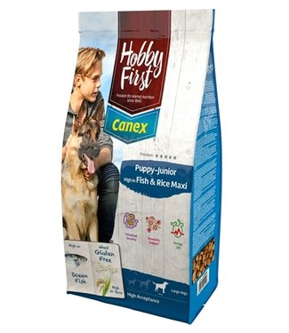 Hobbyfirst canex Hobbyfirst canex puppy/junior brocks rich in fish & rice maxi