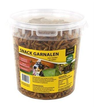 Utopia Gedroogde snack garnalen voor hond   1,2 Liter