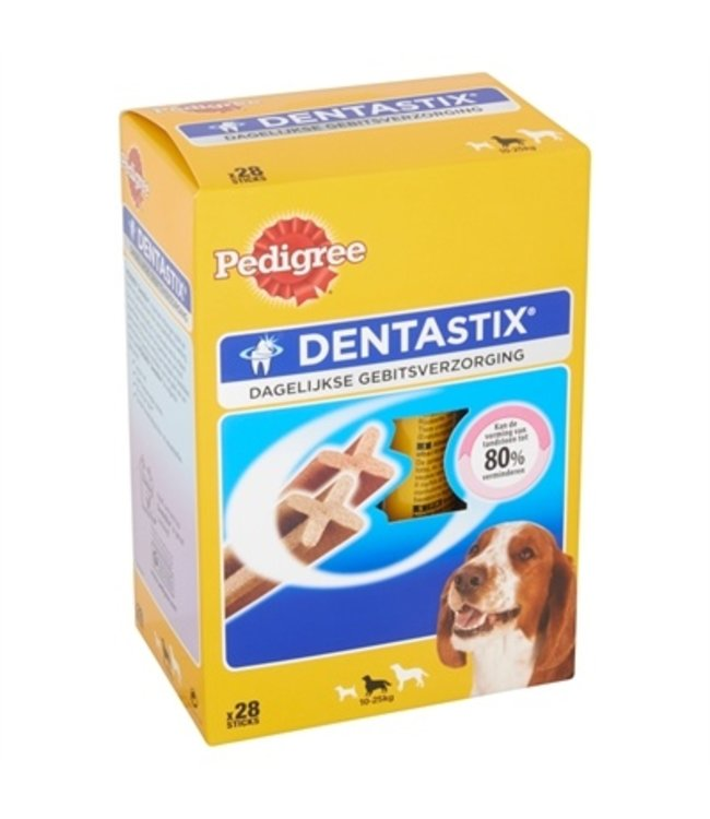 4x pedigree dentastix multipack medium