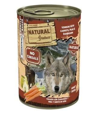Natural greatness Natural greatness venison / carrots | 400 Gram