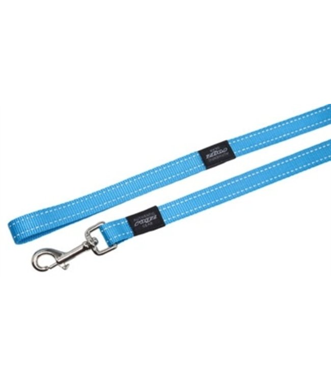 Rogz for dogs fanbelt long lijn turquoise