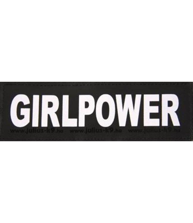Julius k9 labels voor power-harnas/tuig girlpower