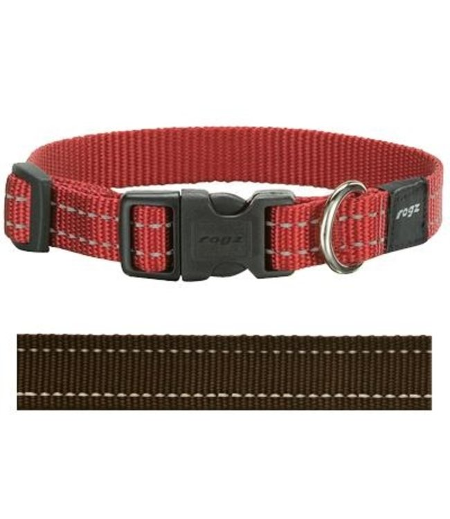 Rogz for dogs snake halsband choco
