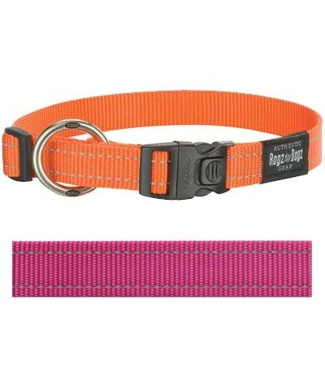Rogz for dogs fanbelt halsband roze