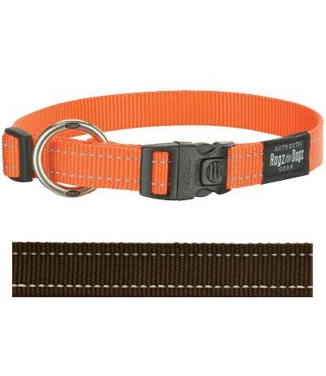 Rogz for dogs fanbelt halsband choco