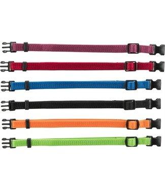 Trixie Trixie puppy halsband set 6 stuks  rood / groen / geel / paars / blauw / zwart  | 17-35 CM