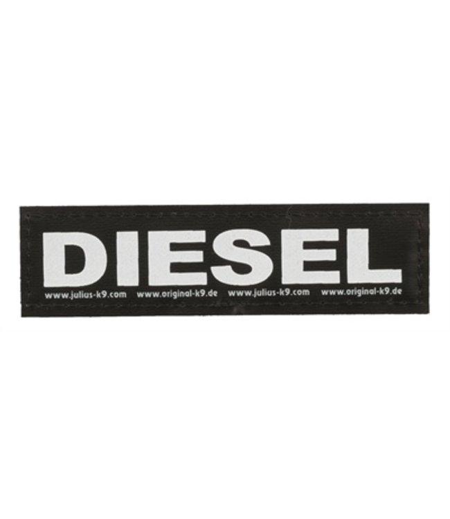 Julius k9 labels voor power-harnas/tuig diesel