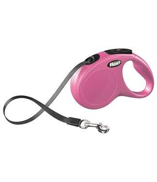 Flexi Flexi rollijn classic tape roze | 5 Meter | Tot 15 KG