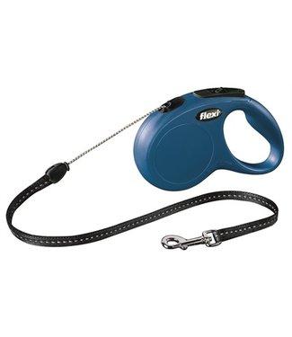 Flexi Flexi rollijn classic cord blauw | 3/5/8 Meter | Tot 20 KG