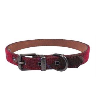Joules Joules halsband hond heritage tweed leer rood | 25,5-66 CM