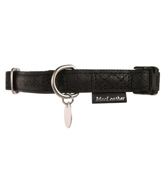 Macleather Macleather halsband zwart | 20-70 CM