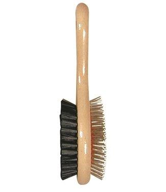 Soft protection salon Houten borstel dubbel   S/M/L