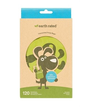 Earth rated Earth rated poepzakjes met handvaten geurloos | 120 stuks