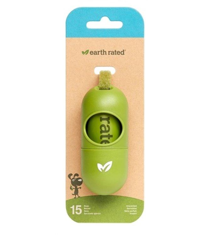 Earth rated poepzakhouder geurloos met 15 poepzakjes