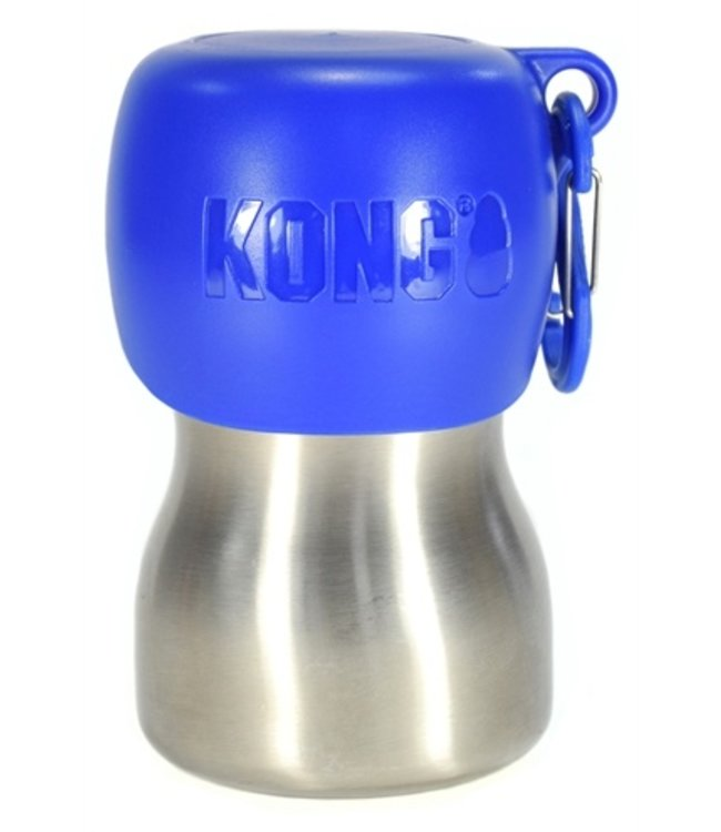 Kong h2o drinkfles rvs blauw