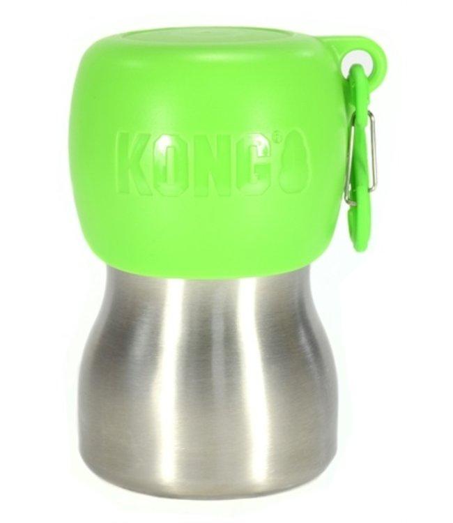 Kong h2o drinkfles rvs groen