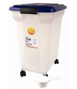 Merkloos Bewaarcontainer luchtdicht transparant/blauw | 45 Liter