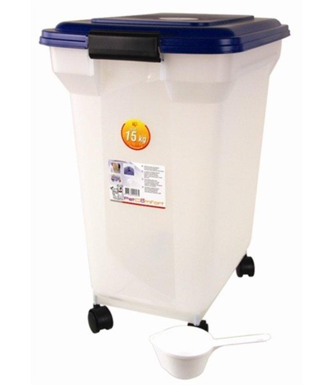 Bewaarcontainer luchtdicht transparant/blauw
