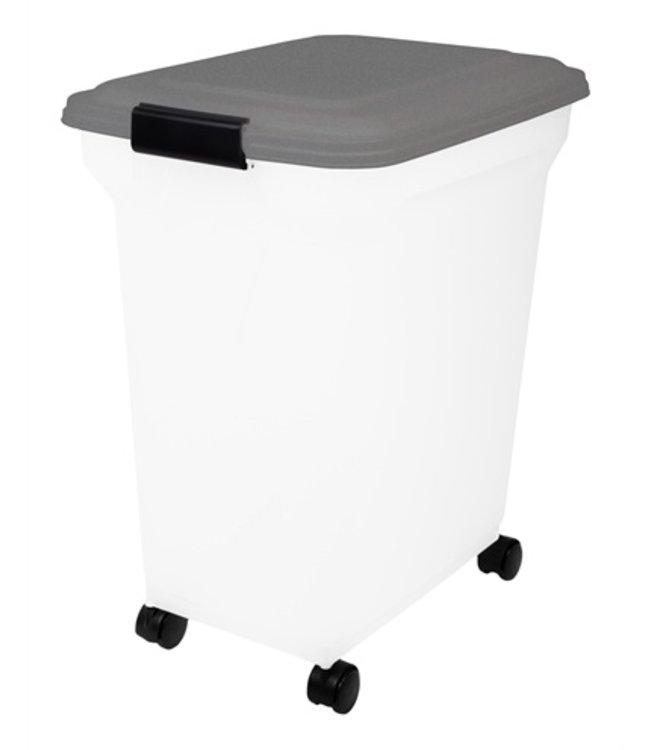 Bewaarcontainer luchtdicht transparant / grijs
