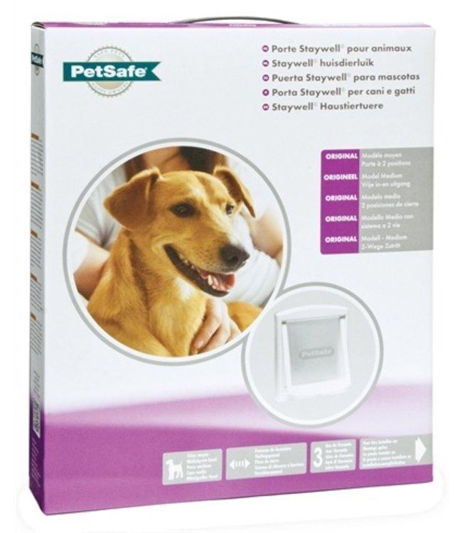 Petsafe hondenluikje medium wit/transparant