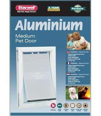 Petsafe Petsafe hondenluik tot 18 kg aluminium wit