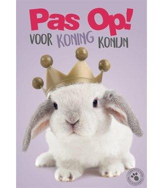 Merkloos Waakbord kunststof studio p koning konijn