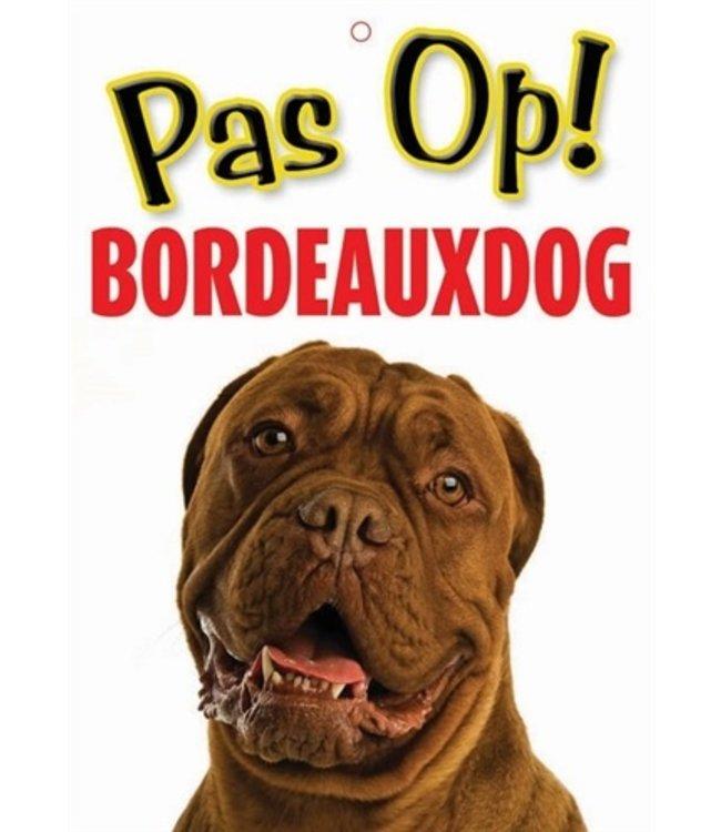 Waakbord nederlands kunststof bordeaux dog
