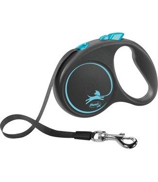 Flexi Flexi rollijn black design tape blauw | 5 Meter | Tot 50 KG
