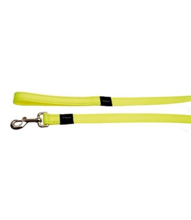 Rogz for dogs fanbelt long lijn geel