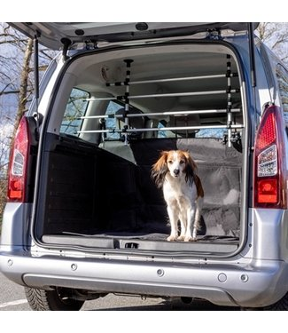 Trixie Trixie hondenrek auto zilver / zwart   96-163x34-48 CM