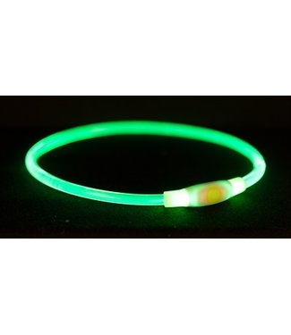 Trixie Trixie halsband usb flash light lichtgevend oplaadbaar groen | 35/65 CM