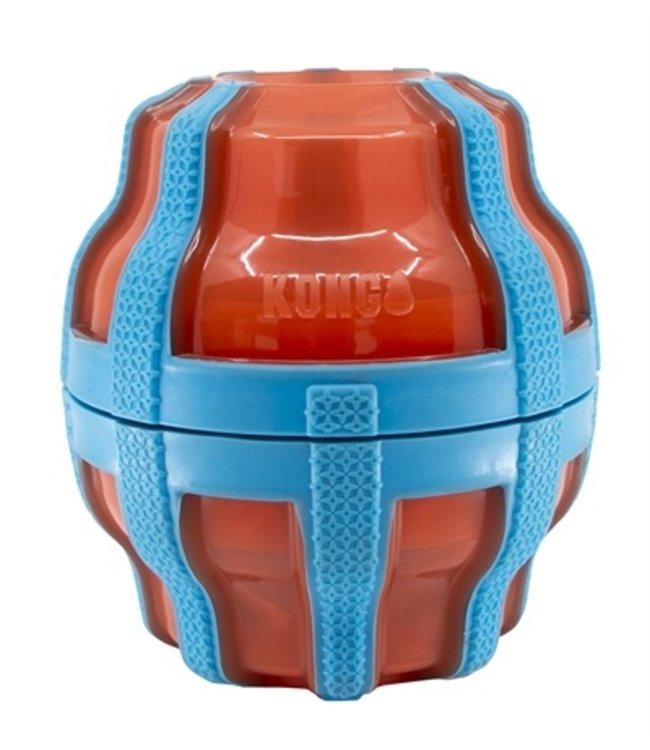 Kong treat spinner voer / snack dispenser oranje / blauw
