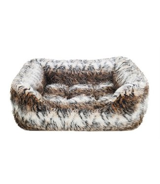 Rosewood Rosewood hondenmand cosy vacht print bruin