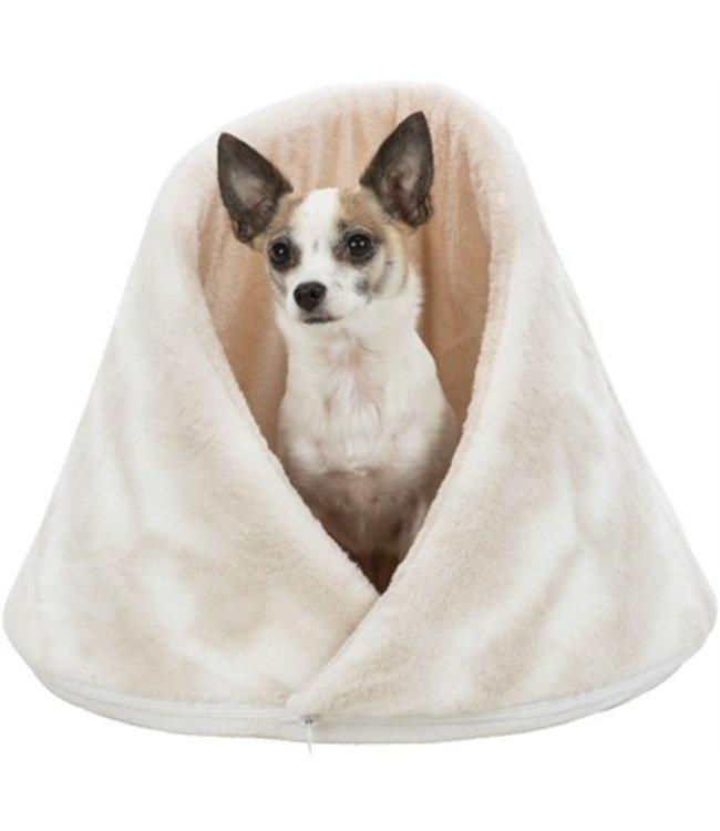 Trixie hondenmand iglo nelli wit / taupe
