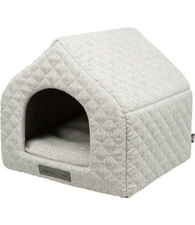 Trixie hondenmand huis noah vitaal schuimrubber lichtgrijs