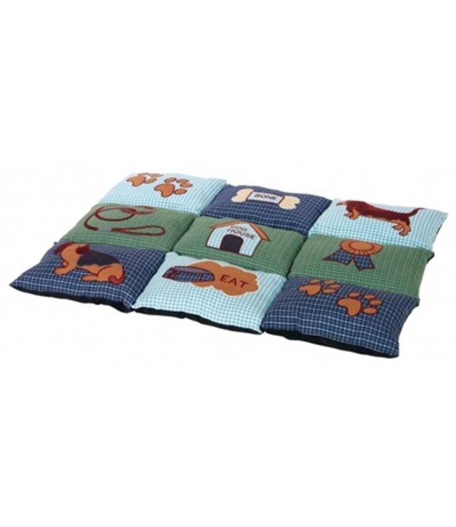 Trixie hondenkussen patchwork blauw / groen
