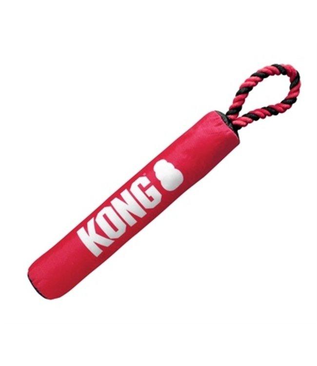 Kong signature stick met touw rood / zwart