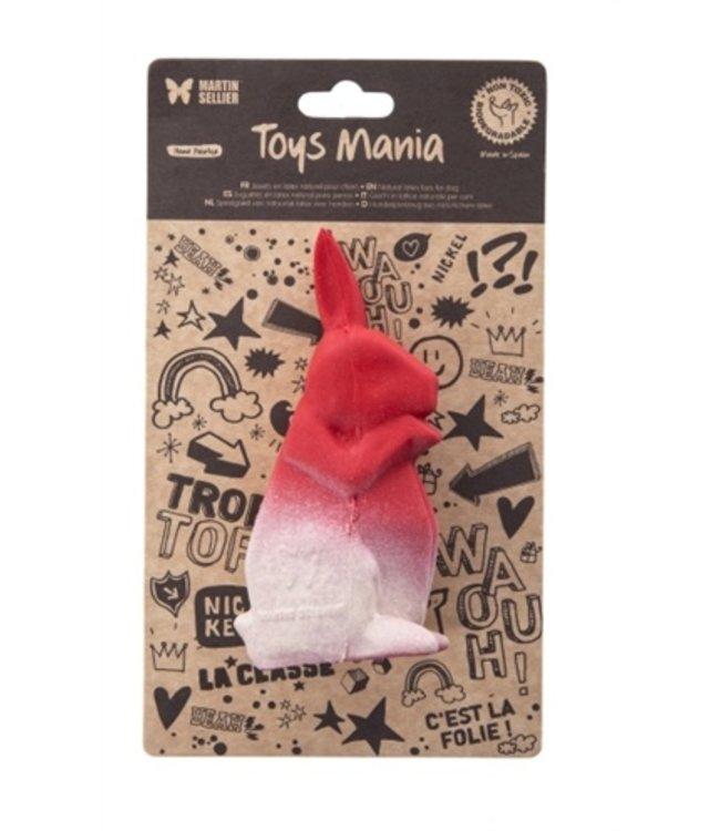 Martin sellier latex origami konijn rood