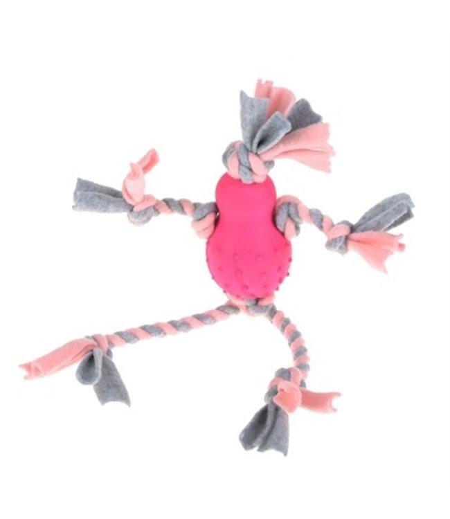 Little rascals flostouw pop met fleece roze