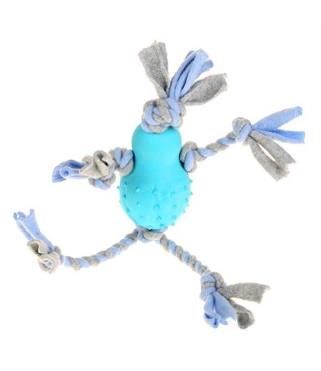 Little rascals flostouw pop met fleece blauw
