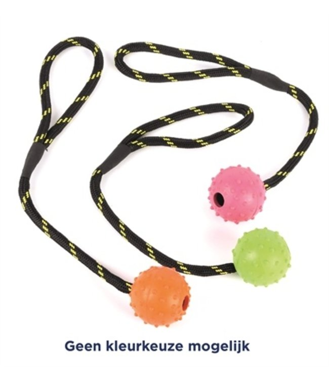 Happy pet tough toys rubber bal studded aan