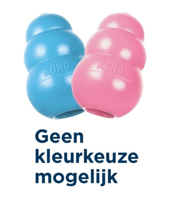 Kong puppy roze of blauw assorti
