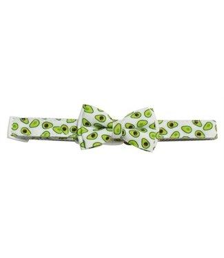 Croci Croci halsband hond avocado print wit / groen