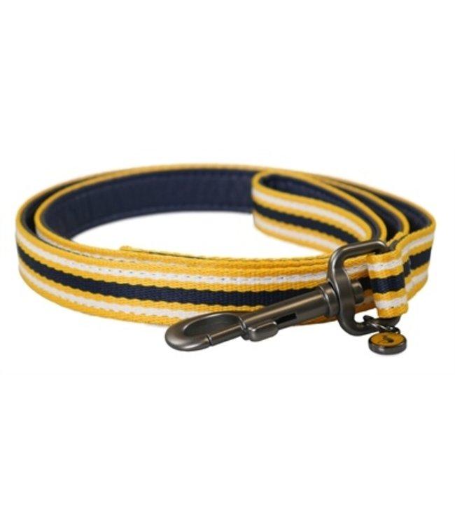 Joules hondenriem coastal navy / geel