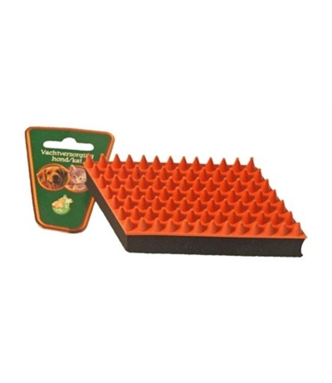 Boon rubber massageborstel oranje / zwart