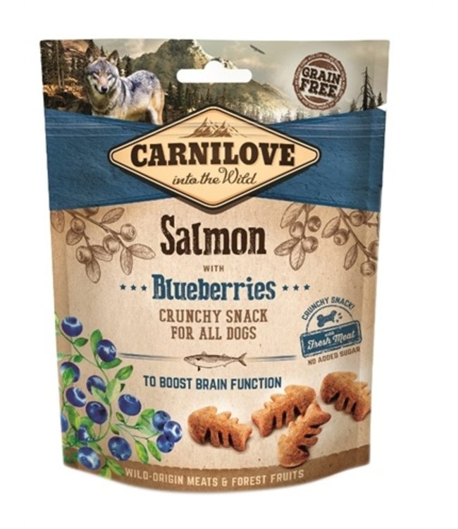 Carnilove crunchy snack zalm / blauwe bes