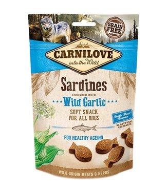 Carnilove Carnilove soft snack sardines / wilde knoflook